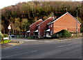SO2001 : Row of three brick houses on an Aberbeeg corner by Jaggery