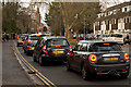 SU7682 : Afternoon traffic queuing on Reading Road, Henley by Roger A Smith
