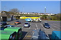 SX9677 : Car park, toilets and recycling by the tennis courts, Sandy Lane, Dawlish by Robin Stott