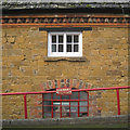 SP3433 : Detail of building materials, Hook Norton Brewery by Robin Stott
