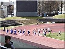 NT2774 : Long walk in - Meadowbank Stadium by Richard Webb