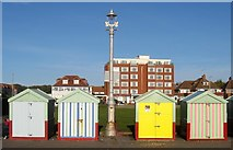 TQ2804 : Beach Huts 176-179, Western Esplanade, Hove by Simon Carey