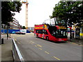 ST1876 : Open top red bus in Cardiff city centre by Jaggery