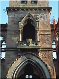 NS3975 : Old Burgh Hall: detail by Lairich Rig
