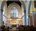 SJ8391 : Christ Church Altar and East Window by Gerald England