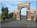 TQ5482 : Entrance to the Federation Jewish Cemetery, Rainham by Marathon