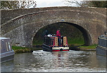 SP7155 : Narrowboat at Turnover Bridge No 47 by Mat Fascione