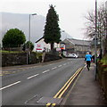 ST2292 : Jogging up High Street, Crosskeys by Jaggery