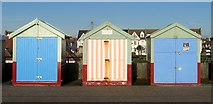 TQ2704 : Beach Huts 403-405, Western Esplanade, Hove by Simon Carey