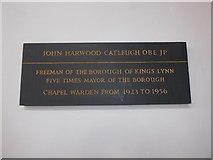 TF6120 : St Nicholas' Chapel, King's Lynn: memorial (24) by Basher Eyre