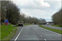SO0327 : Layby on the A40 near Brecon by David Dixon
