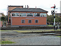 SO8375 : Kidderminster Station Signal Box by Chris Allen
