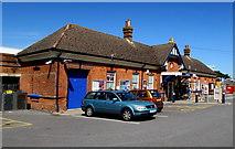 SZ1593 : Christchurch railway station entrance by Jaggery