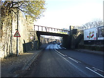 SD7328 : Railway bridge over Blackburn Road (A679) by JThomas