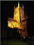 SO8554 : Floodlit Worcester Cathedral by Philip Halling