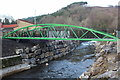 SO2001 : New cycle route bridge over River Ebbw, Aberbeeg by M J Roscoe