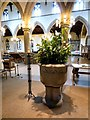 SJ8391 : Christ Church font and columns by Gerald England