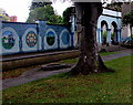 ST4836 : Library garden mural, Street, Somerset by Jaggery