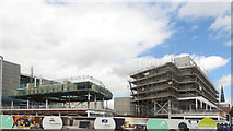 NZ2914 : Construction site, Darlington town centre by Graham Robson