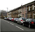 ST2292 : High Street cars and houses, Crosskeys by Jaggery