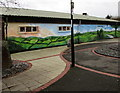 SO2000 : Rural mural on Trinant Community Hall, Pentwyn by Jaggery