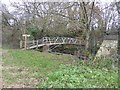 SX8574 : Footbridge over River Teign near Sampson's farm by David Smith