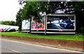 ST3086 : Renault Mégane advert facing Docks Way, Newport by Jaggery
