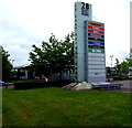 ST3086 : Businesses nameboard, 28 East Retail Park, Newport by Jaggery