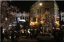 TQ3081 : Monmouth Street Christmas lights by Oast House Archive