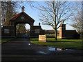 TL6660 : Dalham Hall Stud entrance by Hugh Venables