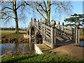 SO8844 : Chinese Bridge in Croome Park by Philip Halling