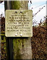 SO6417 : Dog fouling penalty notice, High Street, Drybrook by Jaggery