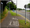 ST2995 : End of cycle route near Cwmbran Drive, Cwmbran by Jaggery
