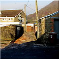 ST2193 : Back lane on the north side of Ivor Street, Cwmcarn by Jaggery