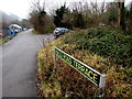 ST2292 : Halls Road Terrace name sign, Pontywaun by Jaggery