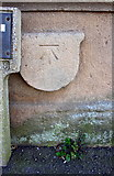 SK7954 : Benchmark on shield on parapet of bridge over River Trent by Roger Templeman