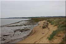 TM3338 : Anti-tank obstacles on the eastern bank of the Deben estuary by Simon Mortimer