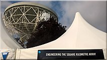 SJ7971 : The Lovell Telescope at Jodrell Bank Observatory during the inaugural Bluedot Festival by Benjamin Shaw