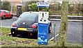 J3285 : E-car charging point, Mossley, Newtownabbey (December 2016) by Albert Bridge