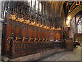 SJ6552 : St Mary, Nantwich: misericords by Stephen Craven