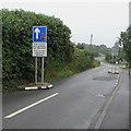 SN1202 : Priority over oncoming vehicles sign, New Hedges, Pembrokeshire by Jaggery