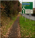 SO9568 : Redditch Road directions sign, Bromsgrove by Jaggery