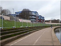 SX9192 : Exe flood defence works - Exeter by Chris Allen