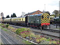 SO8376 : Severn Valley Railway - empty coaching stock movement by Chris Allen