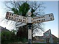 NU2414 : Fingerpost at Longhoughton by Alan Murray-Rust