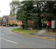 SJ6652 : Queen Elizabeth II postbox, St Joseph's Way, Nantwich by Jaggery