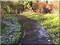 SS8884 : Icy Footpath by Alan Hughes