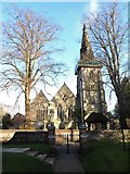 TQ3355 : St Mary, Caterham: early January 2017 by Basher Eyre