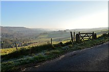 SK2376 : Derwent Valley from the Eyam Road, Derbyshire by Andrew Tryon