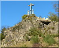 SK4516 : Calvary at Mount St Bernard Abbey by Mat Fascione